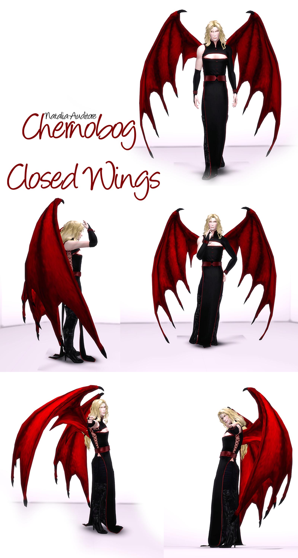 Chernobog Closed Wings Natalia Auditore On Patreon Sims 4 Anime Sims Sims Mods