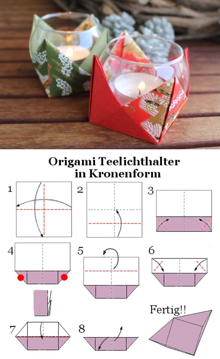 Photo of DIY: So macht man ein Teelichthalter in Kronenform aus Origami #weihnachten #Wei…
