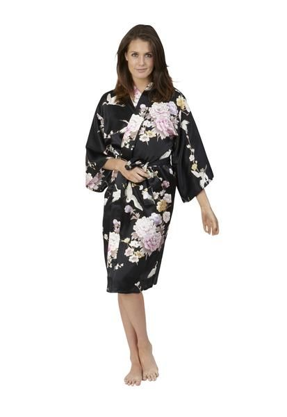 286f4d1bb Crane & Peony Short Silk Happi Coat Kimono | WOMENS KIMONOS | Silk ...