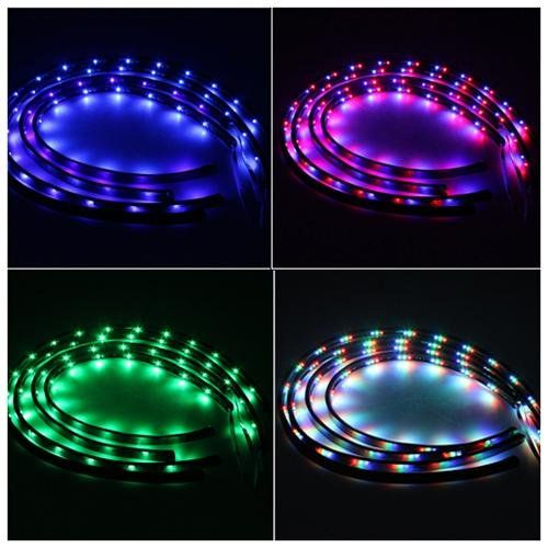 Led Light Strips For Trucks 12V Blue 4 X 30Cm Led Flexible Waterproof Light Strip For Car Truck