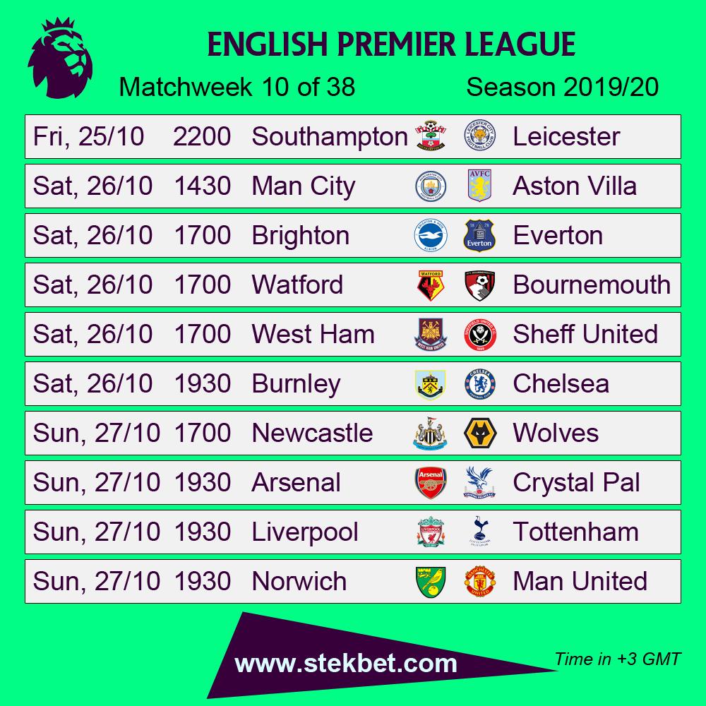 Premierleague Fixtures Football Soccer Fifa England Fussball
