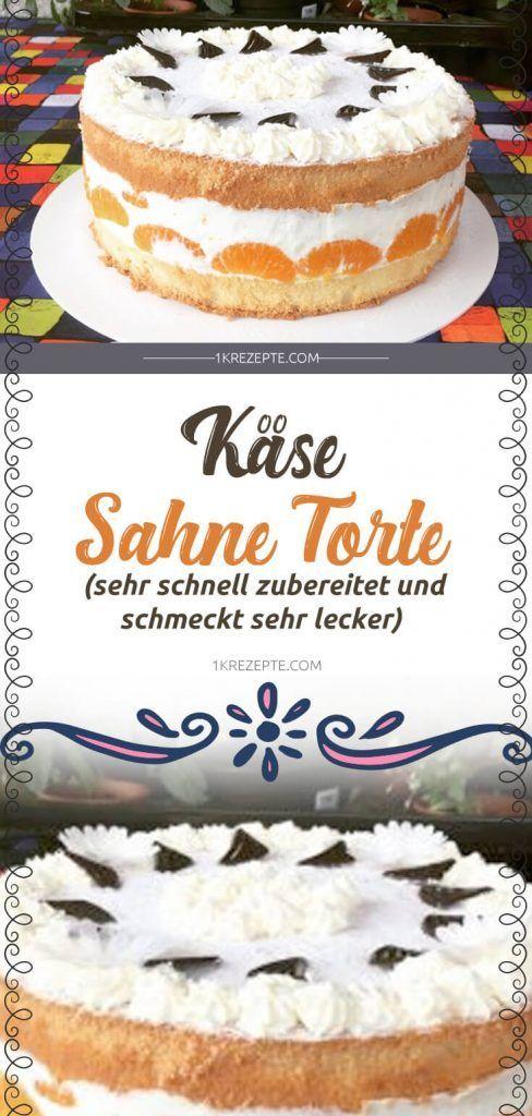 Käse Sahne Torte (Sehr schnell Zubereitet und schmeckt sehr Lecker) #goodcoffee