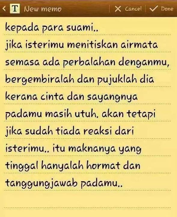 Airmata Dan Reaksi Isteri Via Https Fb Me Inpursuitofjannah Beautiful Quotes Quotes Words