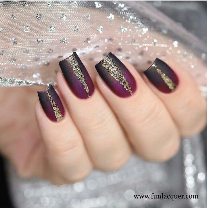 Black Cherry Nail Art Trend Idea Design Diy Creative Stiletto Nail Designs Maroon Nails Gorgeous Nails