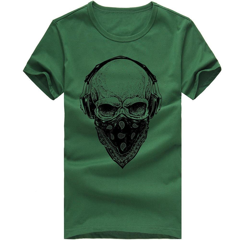 Men Printing Tees Shirt Short Sleeve T Shirt Blouse
