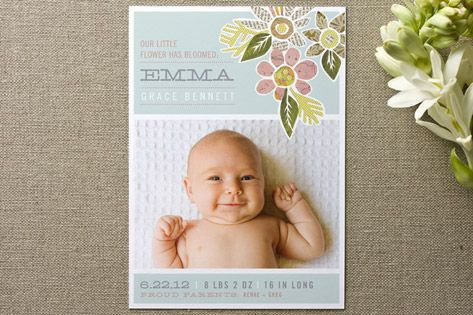 17 Best images about Birth Announcements – Picture Birth Announcements