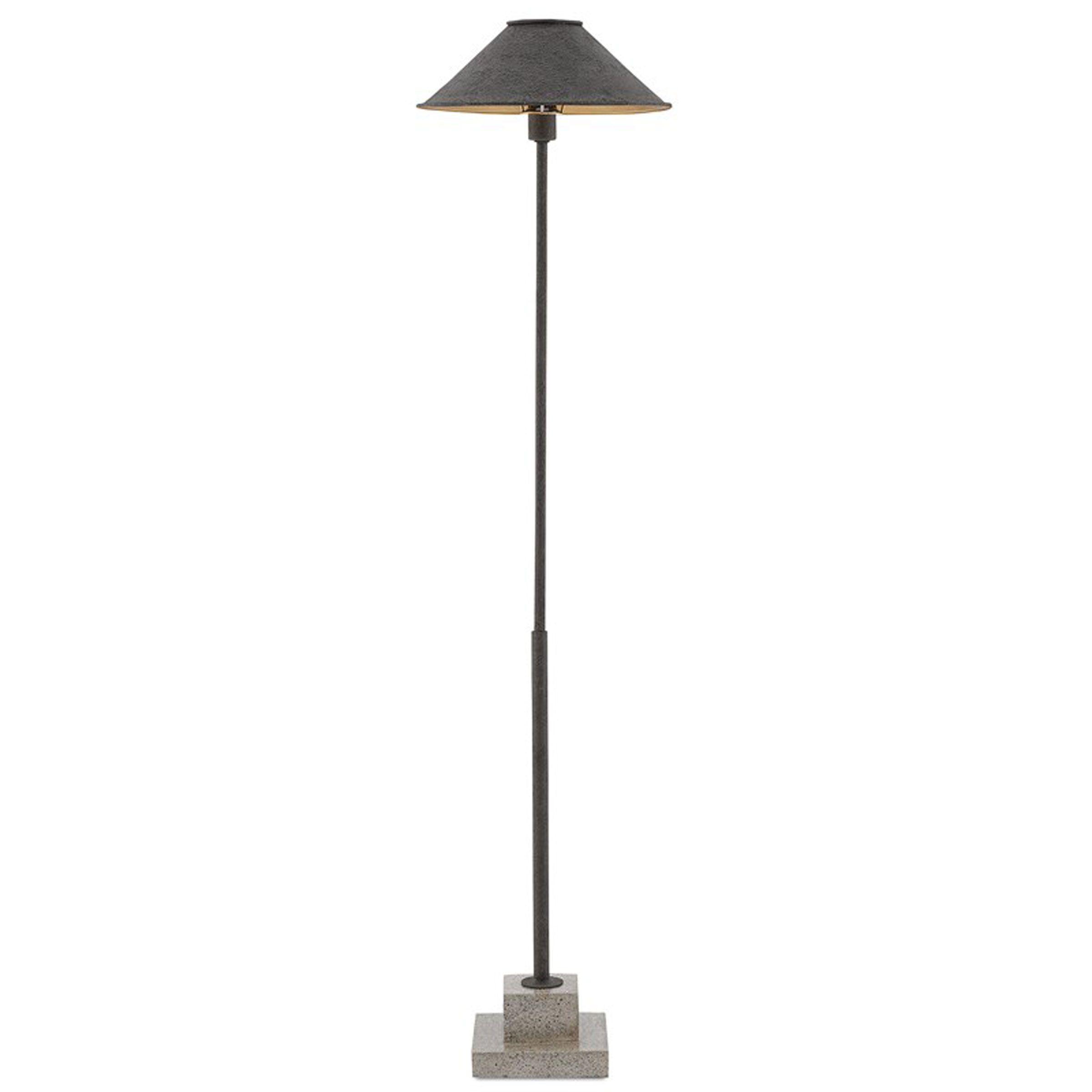 Liela Modern Classic Black Wrought Iron Concrete Base Floor Lamp In 2021 Floor Lamp Black Shade Black Floor Lamp Floor Lamp