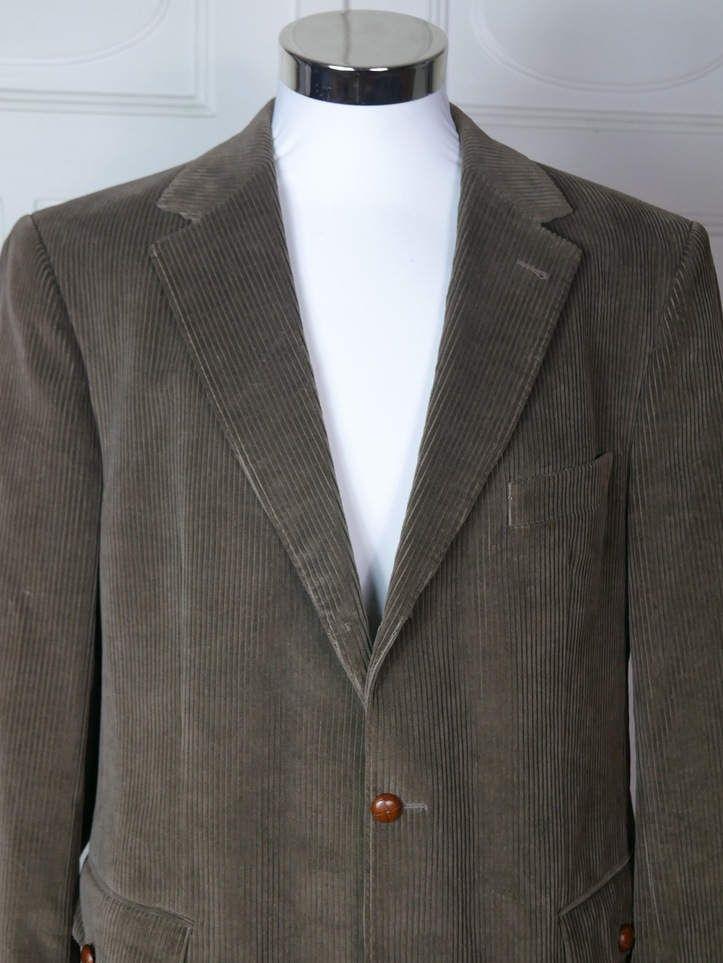 527695e4b7aec British Vintage Burberry Brown Corduroy Blazer