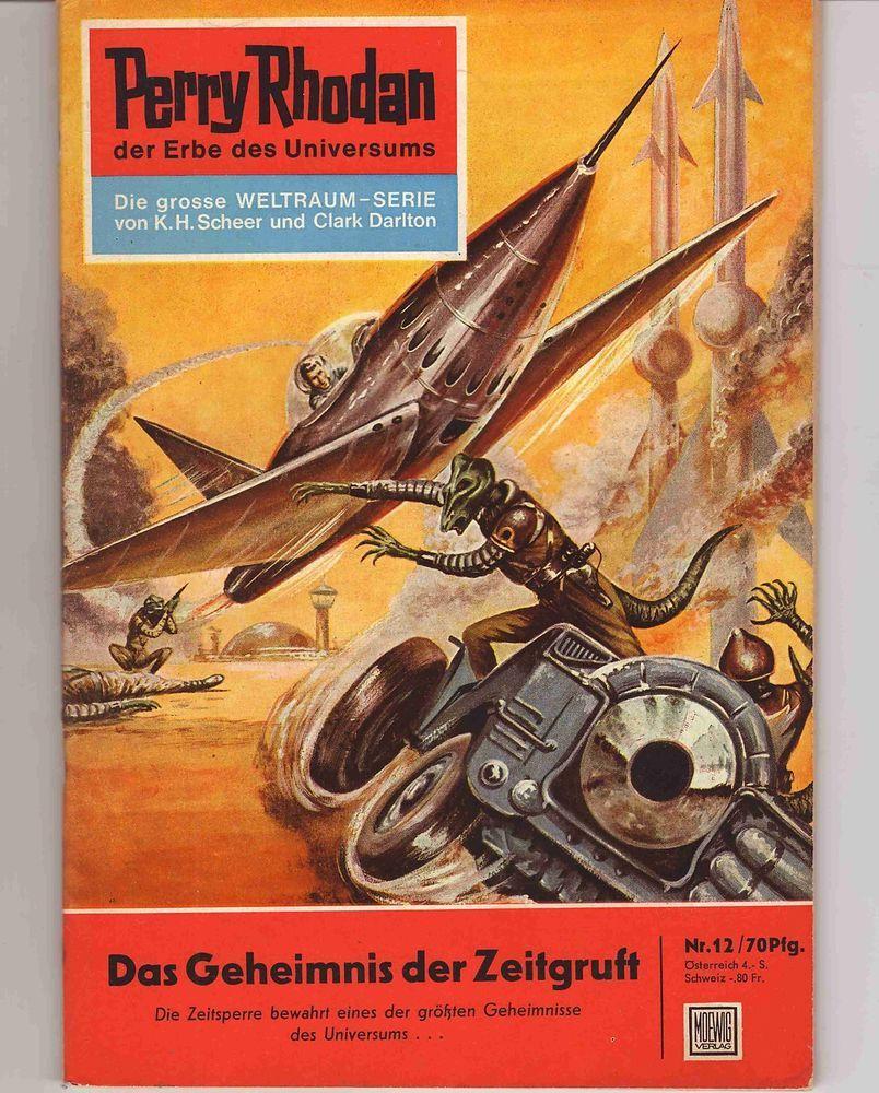 1961 Perry Rhodan: Perry Rhodan 1.Aufl. Nr. 12 (Zust. 2+/2) In Sammeln