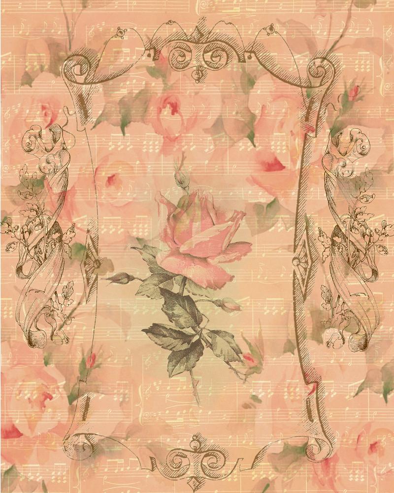 Free download pink rose sheet music paper top for Paper roses sheet music free