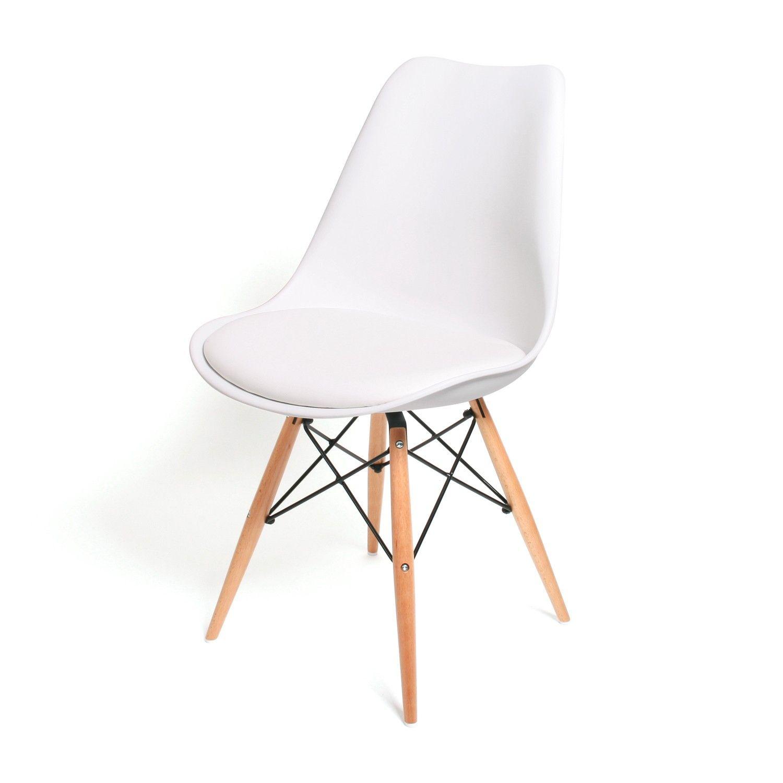 Moderner Esszimmerstuhl Consillium Weiß / Holz | FurnLAB | Home ...