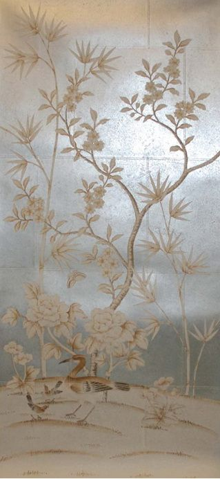 Hand painted wallpaper chinoiserie wallpaper silk wallpaper chinese wallpaper