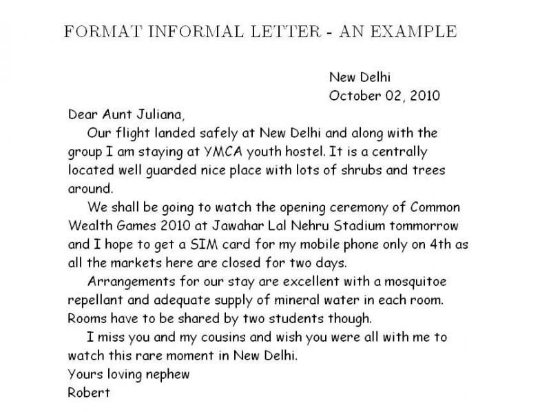 informal letter template - Google Search teaching writing - Formal Report Format Sample