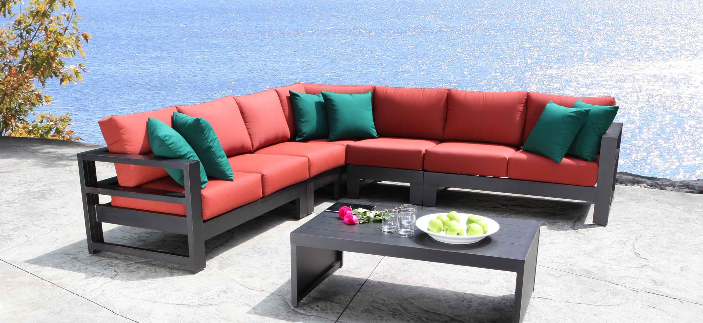 Outdoor Sectional Cast Aluminum Patio Furniture Aura Modern
