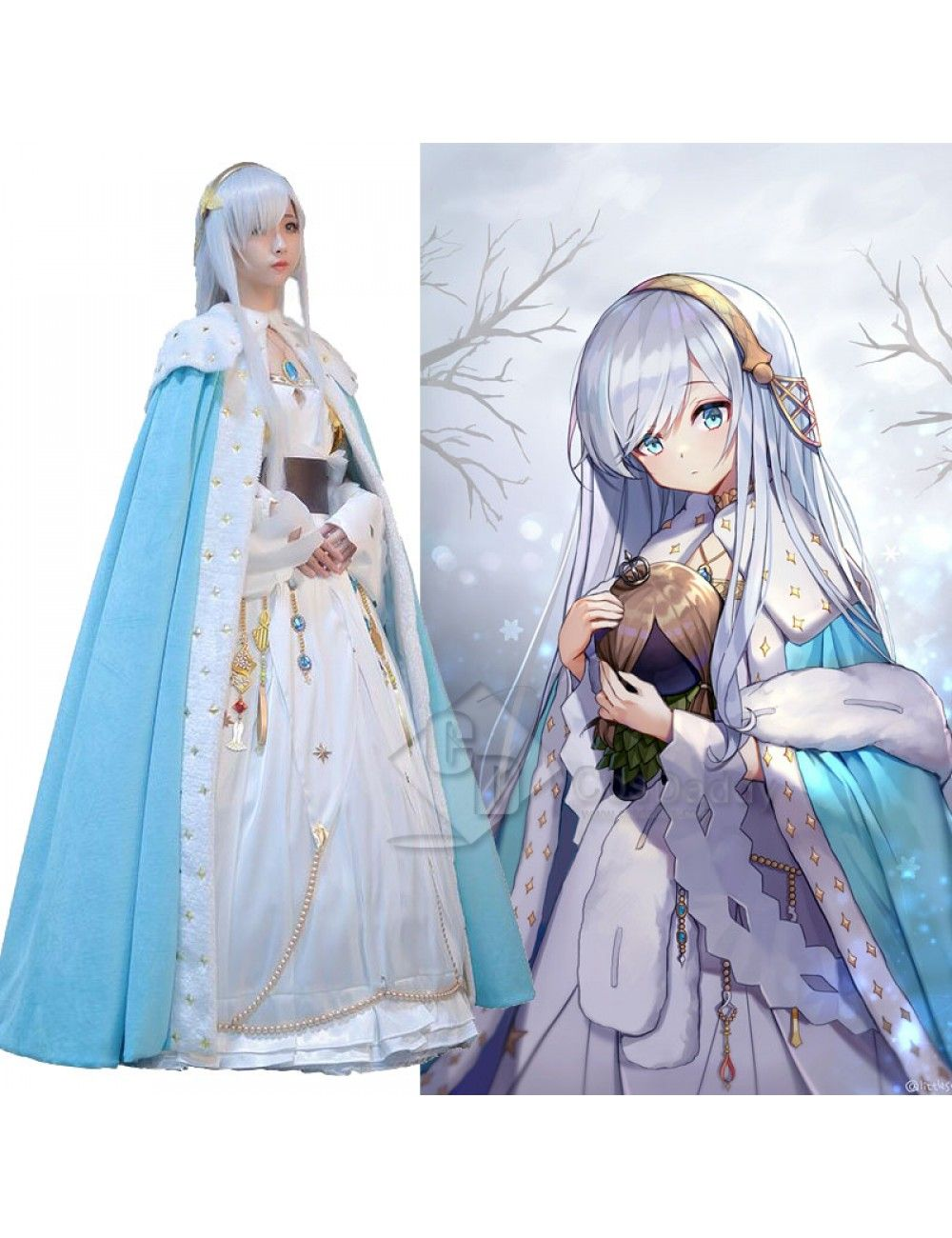 Fate Grand Order Fgo Anastasia Nikolaevna Cosplay Costume Cosplay Costumes Anastasia Cosplay I am a big fan of the universes of the witcher and mortal. fate grand order fgo anastasia