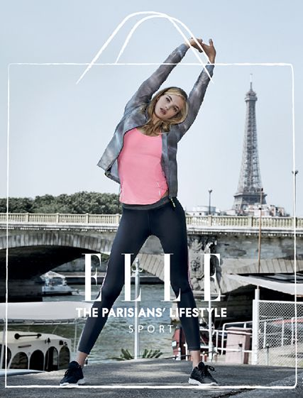 Ellesport Elle UK magazine advert performance running Parisian sports #elle #magazine #running #pr