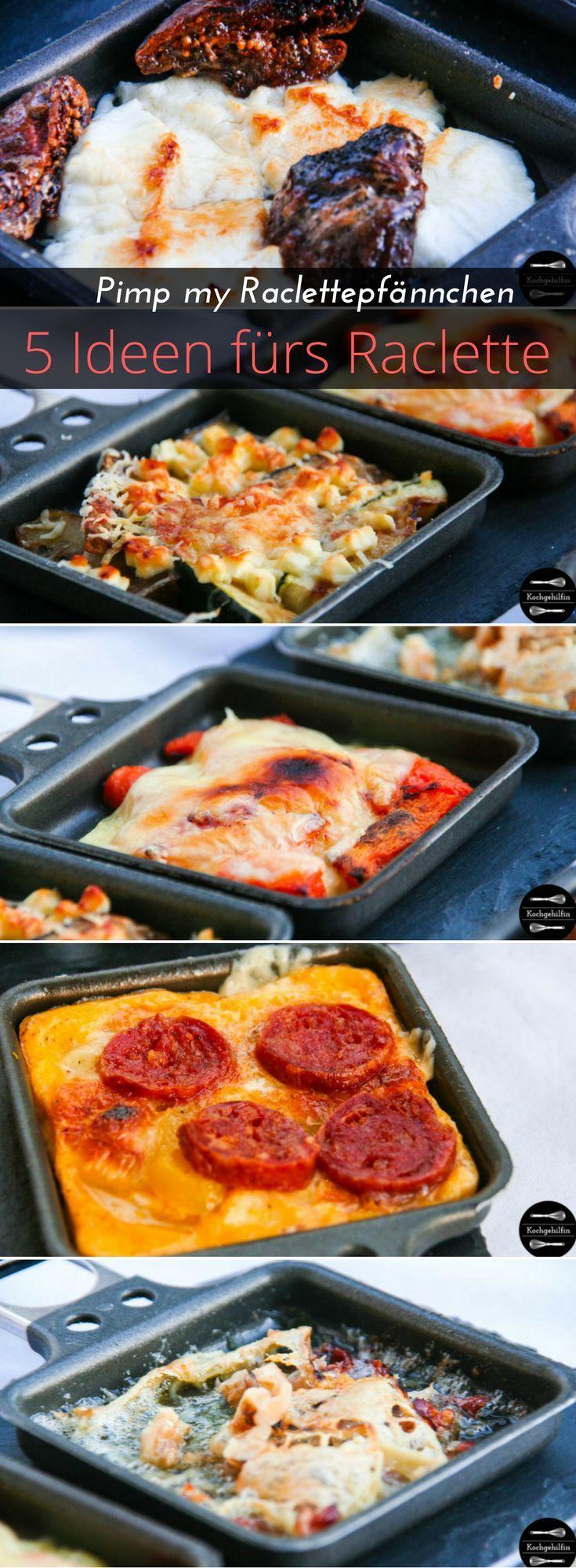 5 Ideen fürs Raclette mit Chorizo, Feigen, Kürbis, Zucchini oder Walnüssen. #fondue