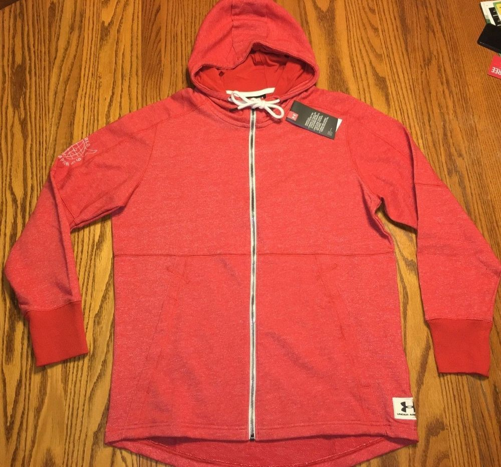 c470f5bbef NWT Men's Under Armour Project Rock Hawaii USA Hoodie Red Wrestling ...