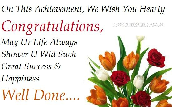 Congradulations Congratulations Message For Achievement Well