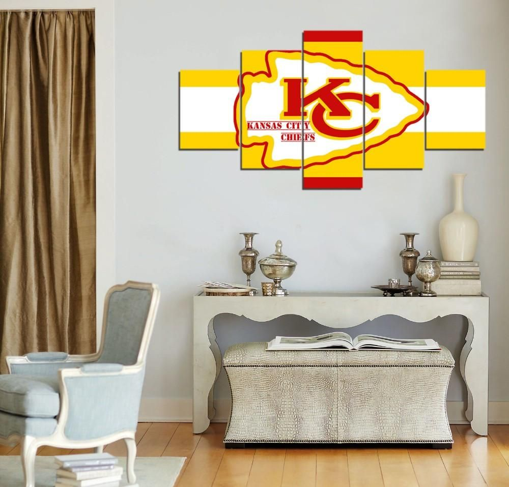 kansas city chiefs modern home decor wall art picture