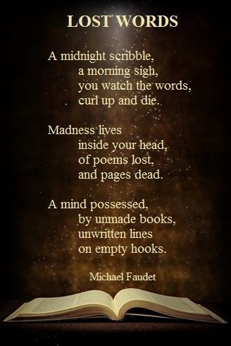 Image Result For Lost Words Michael Faudet