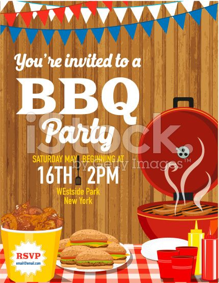 Summer picnic and BBQ invitation flyer or template Text is on its - bbq invitation template