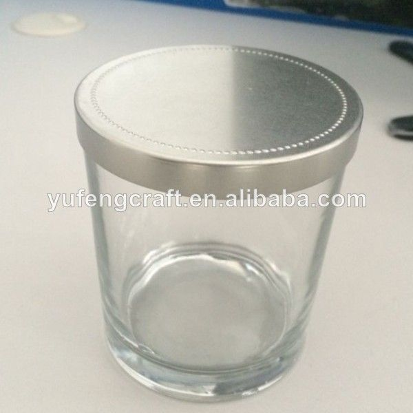 Wholesale Decorative Glass Bottles Custom Made Decorative Glass Jars With Metal Lids Wholesale  Buy