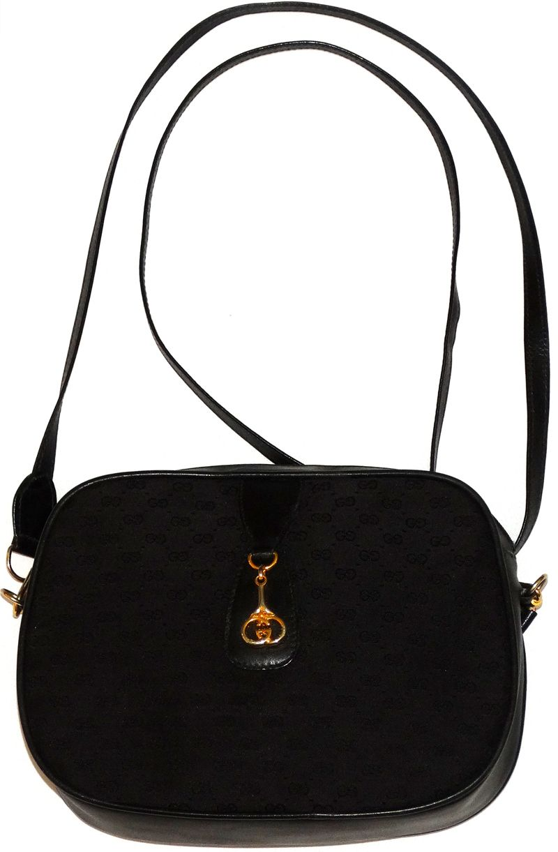 Gucci Designer Handbags Black Monogram Crossbody Shoulder Bag ...