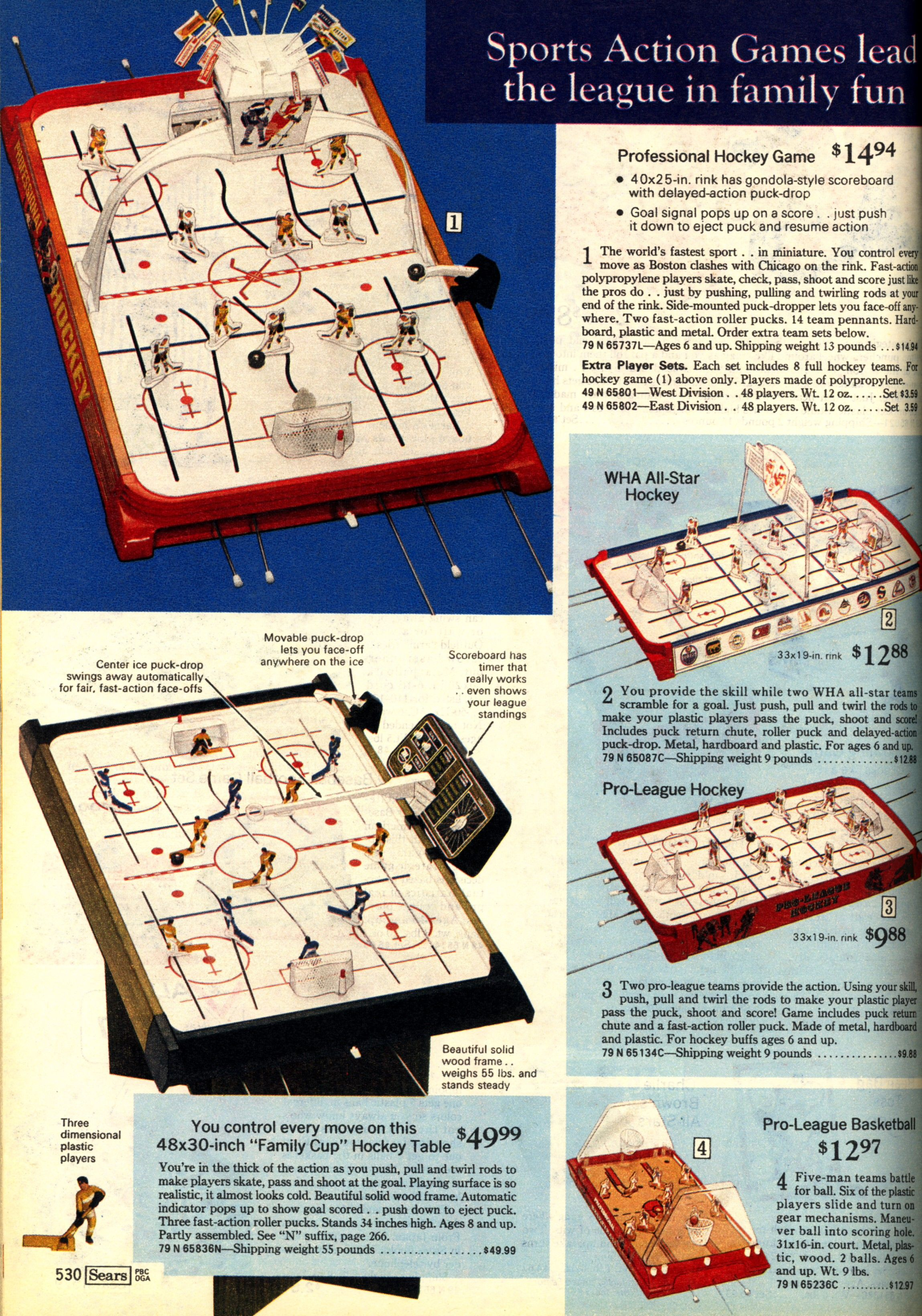1974 Sears Christmas Wish Book Munro Games Table Hockey And