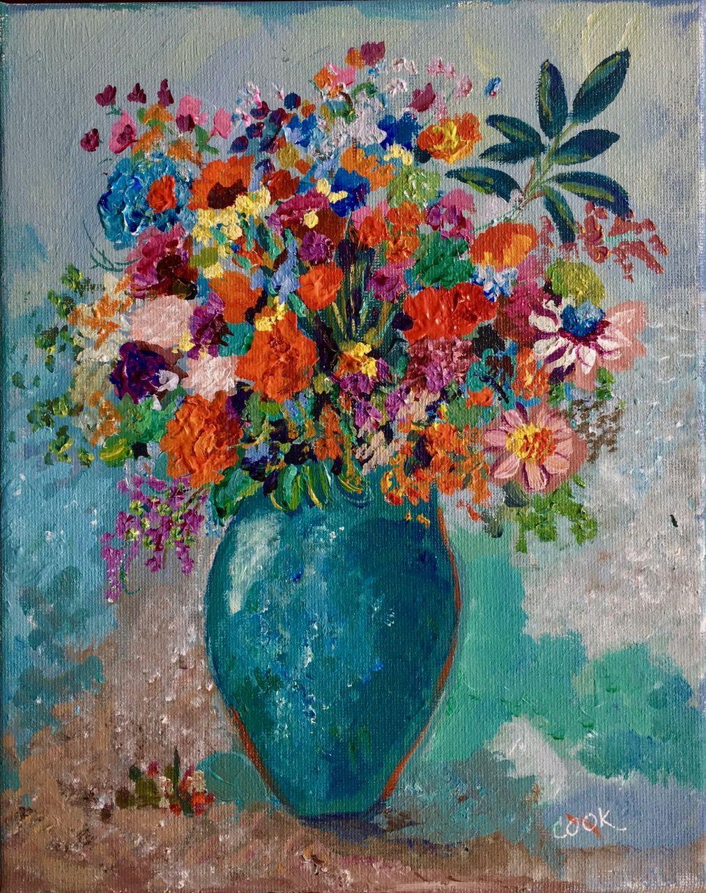 flower vase painting ideas