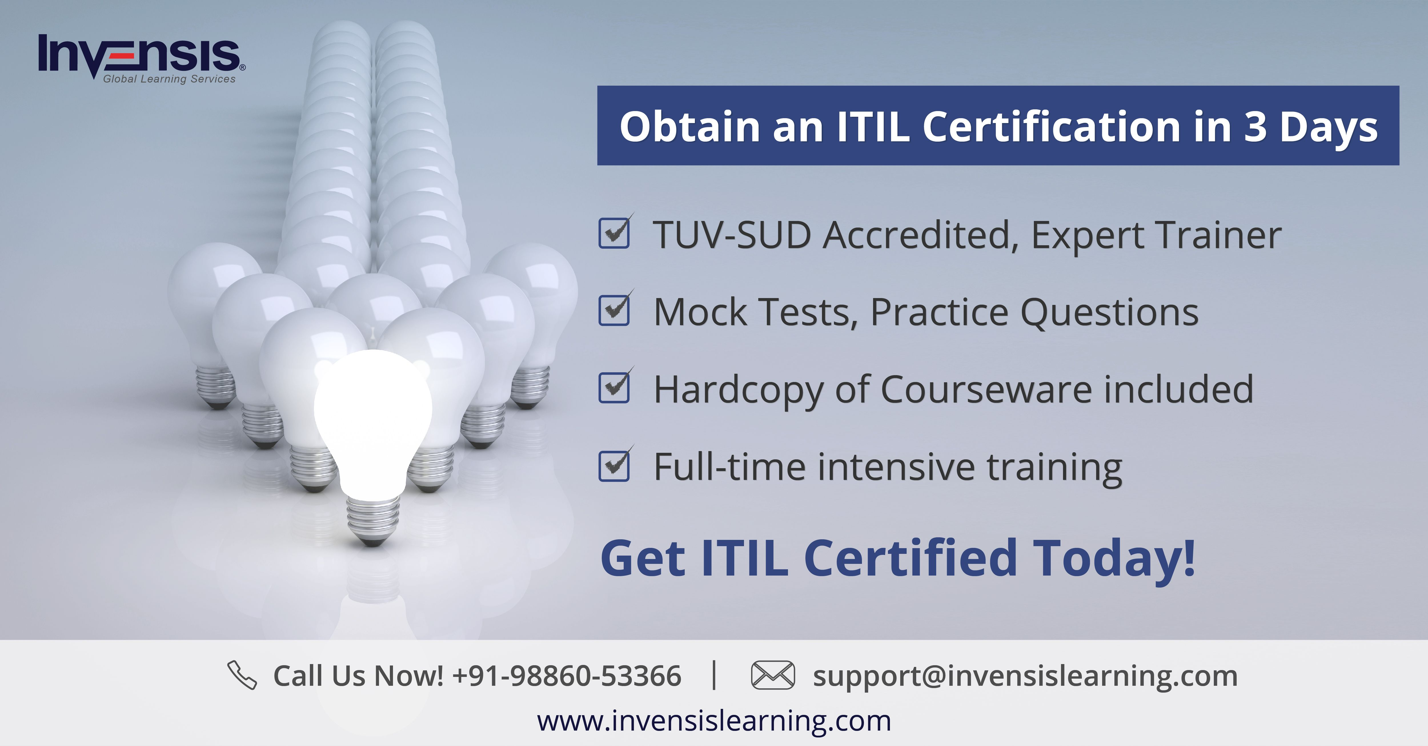 Get Itil Certified In 3 Days Benefits Of Taking The Course Tuv