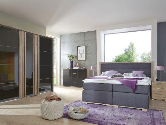 ODESSA Boxspringbett grau Schlafzimmer Pinterest - schlafzimmer sofort lieferbar