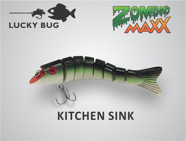 Kitchen Sink 3 Fishing Lures Bugs Fish
