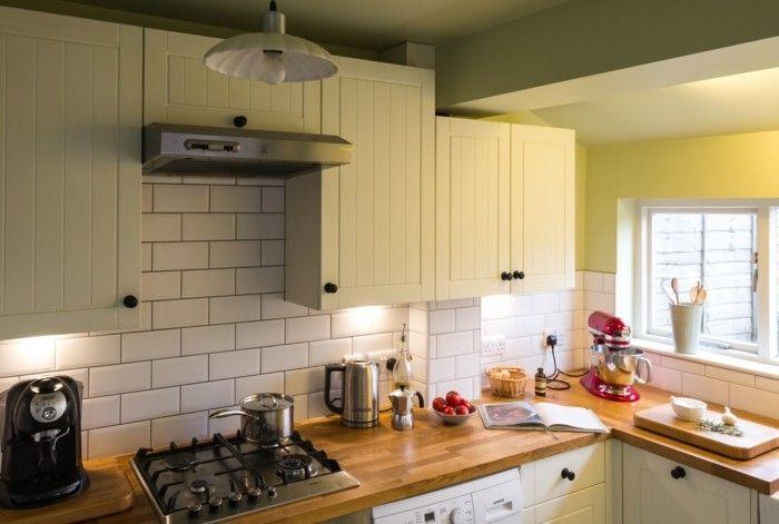Wohnideen Küche wohnideen küche creme metro fliesen topküchenideen