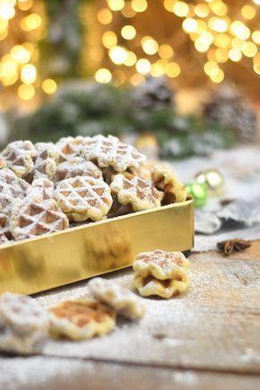 Spekulatius - Waffelplätzchen - Speculoos Waffle Christmas Cookies #spekulatiuskuchen