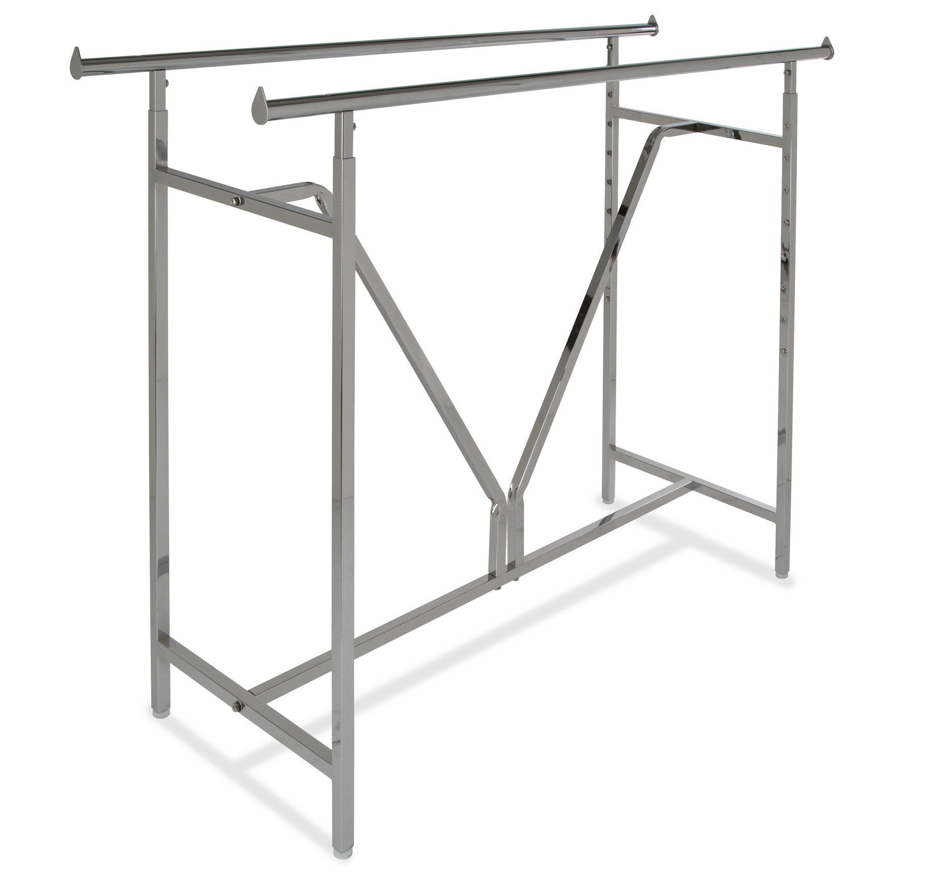 Hvy Duty Double Bar With Images Metal Clothes Rack Retail