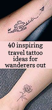 Photo of 40 inspiring travel tattoo ideas for wanderers out there,  #diytattoopermanentideas #ideas #I…