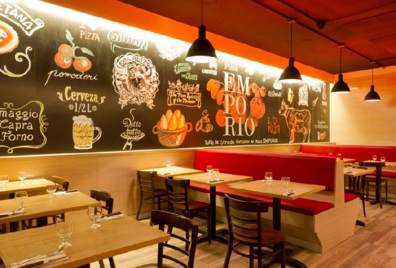 Decoracion de restaurantes de pizzas buscar con google for Interiores de restaurantes