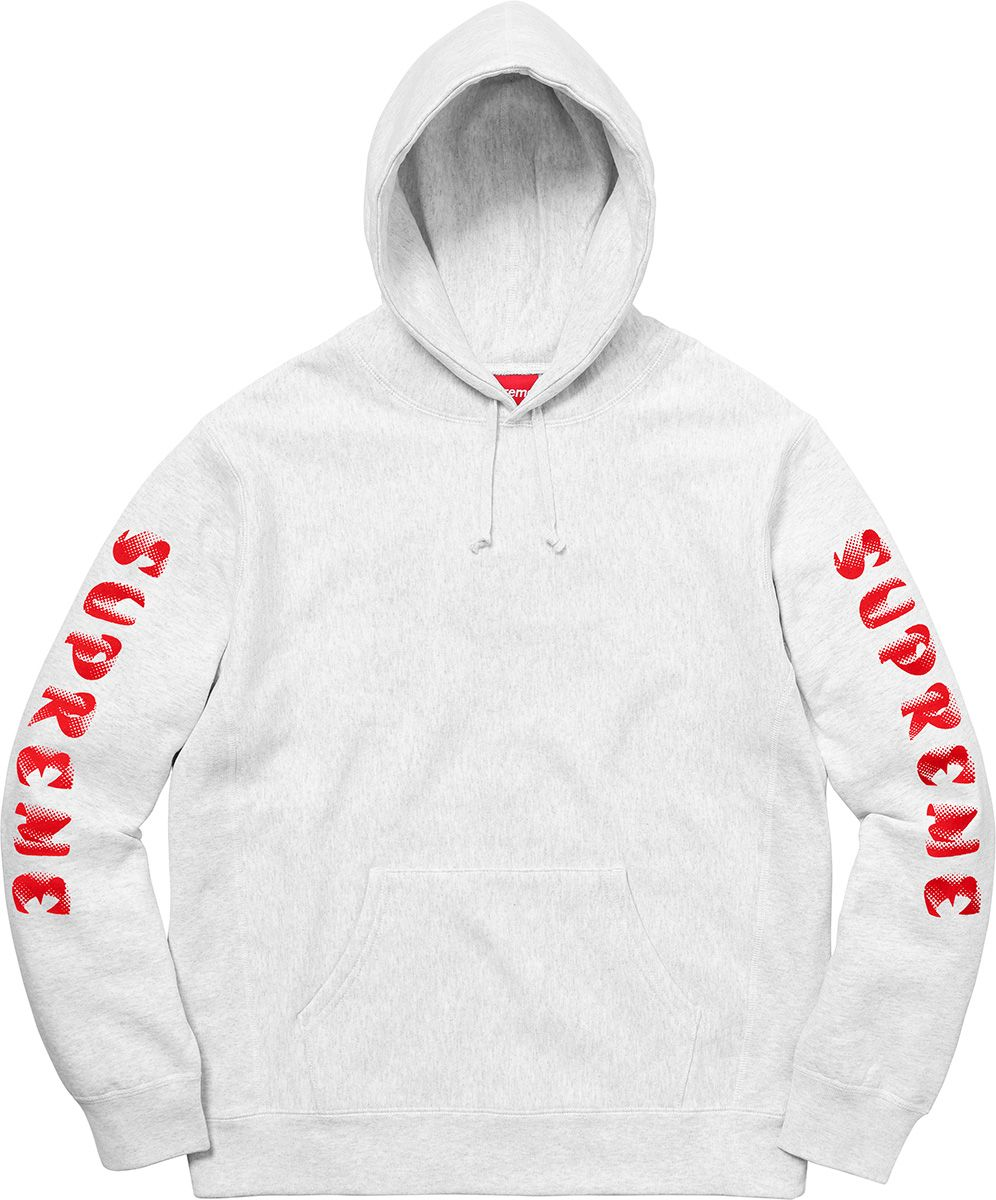 Supreme Gradient Sleeve Hooded Sweatshirt Sweatshirts Hooded Sweatshirts Mens Sweatshirts [ 1200 x 996 Pixel ]