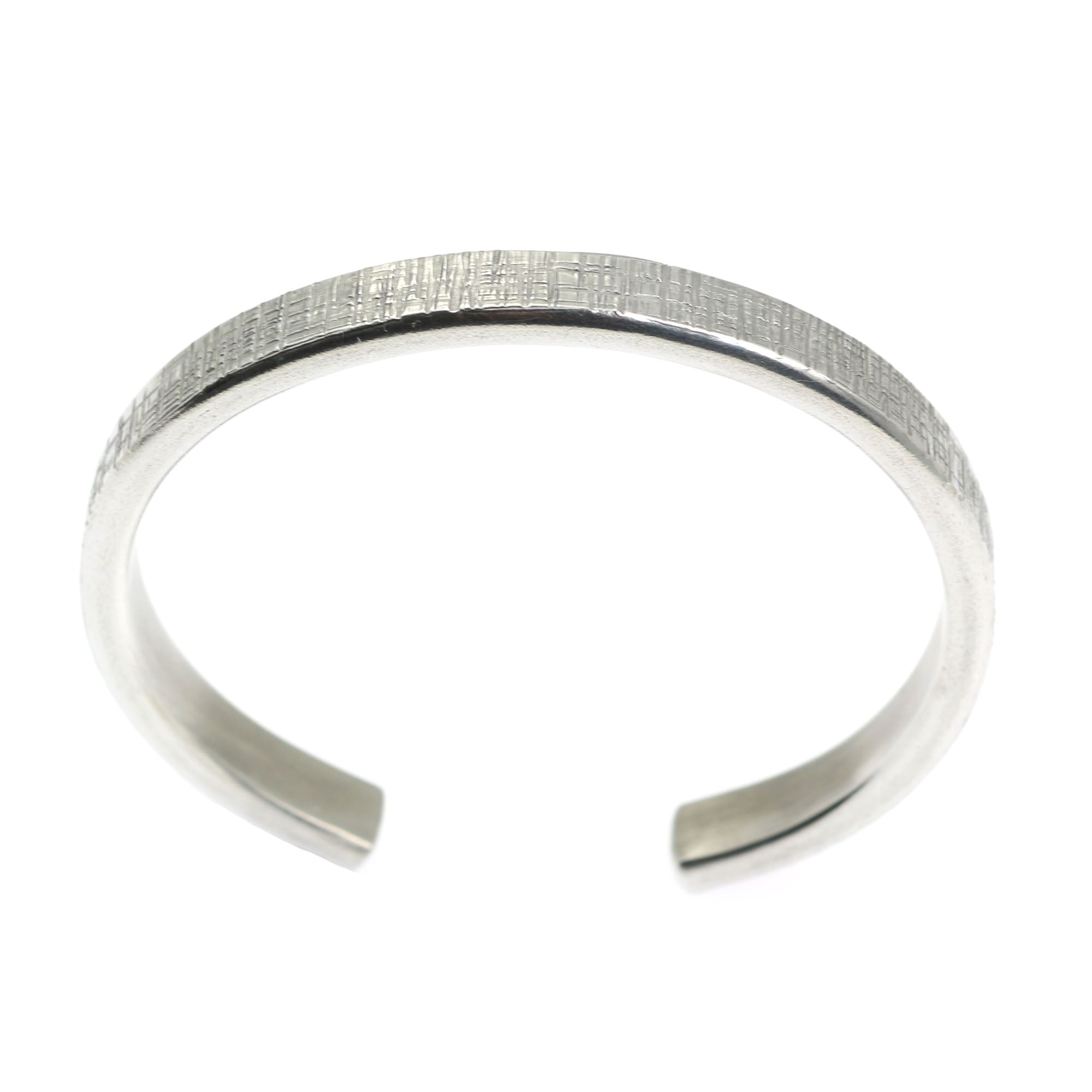 New awesome mm thin linen silver tone cuff bracelet highlighted by