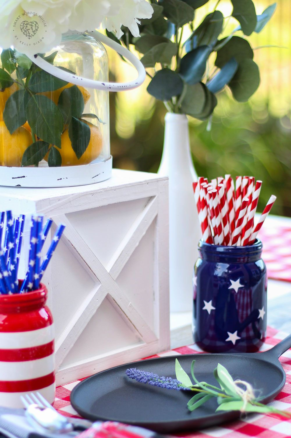 Red White And Blue Table Decorations Table Decorations Decor