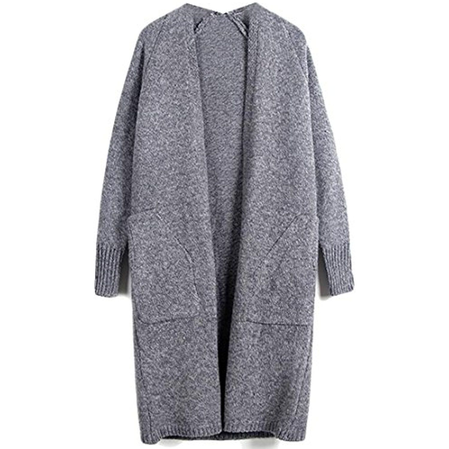 86ab567a70 Womens Casual Knit Tweed Pocket Open Front Cardigan Sweaters -- Check out  the image by
