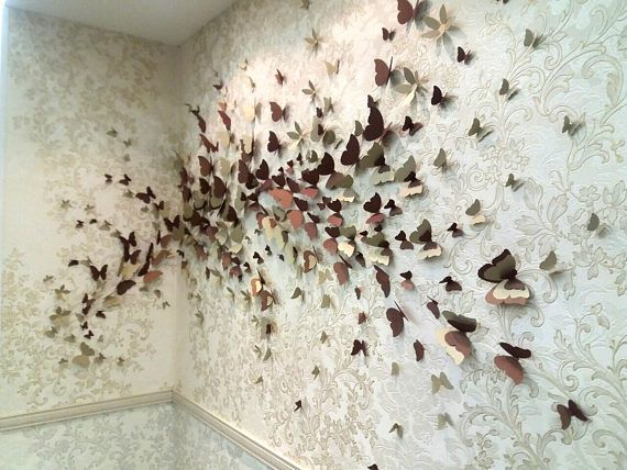 Home Decoration Wedding Decor Wall Art 3D Butterfly Decals Wall Stickers Mural