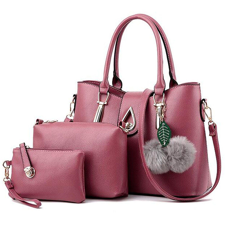 2c337f7c5fb35 Vincico Women 3 Piece Tote Bag Pu Leather Handbag Shoulder Purse Bags Set