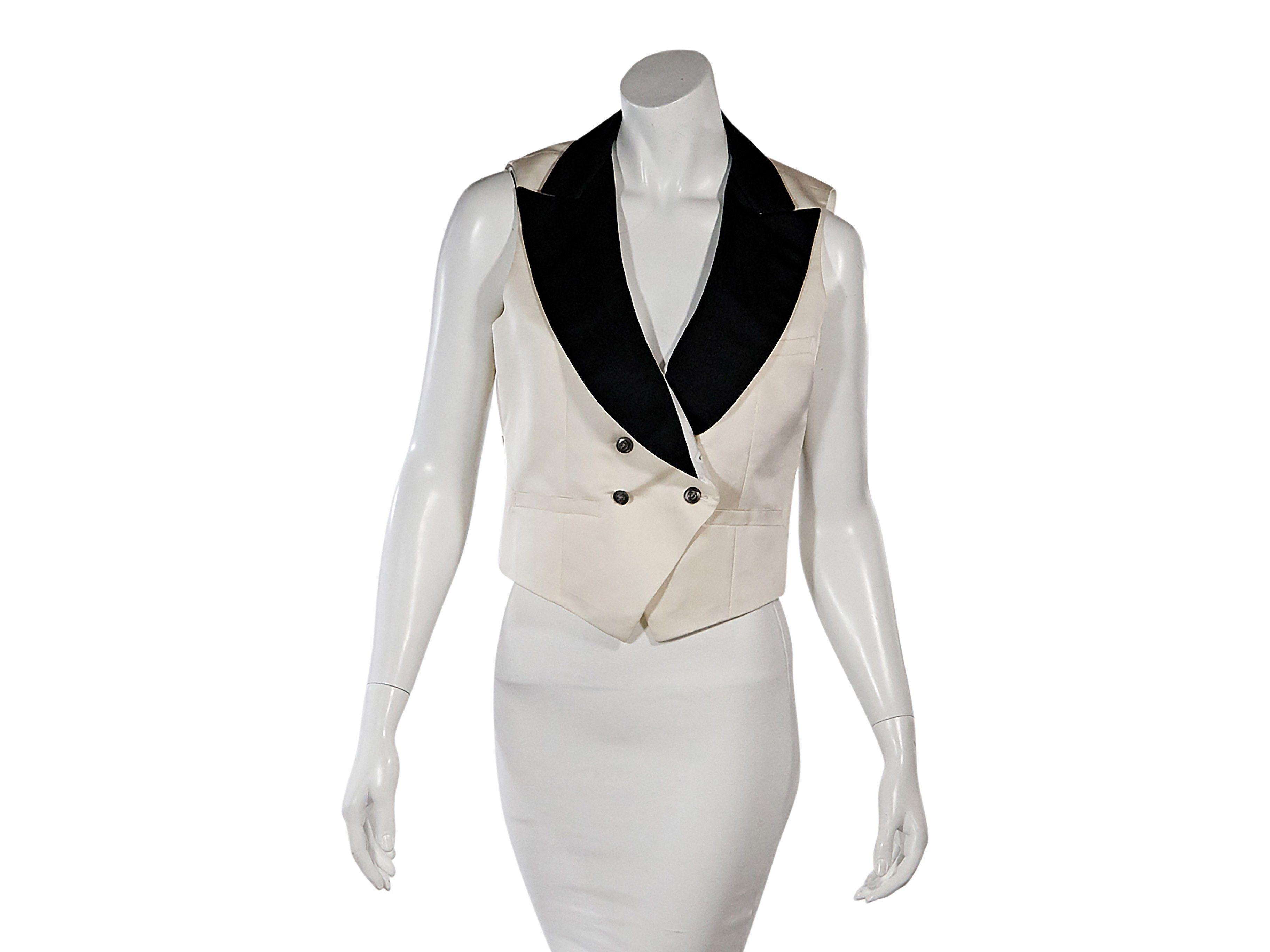 e2e6149d08a0 White & Black Chanel Tuxedo Vest | Products | Tuxedo vest, Tuxedo ...