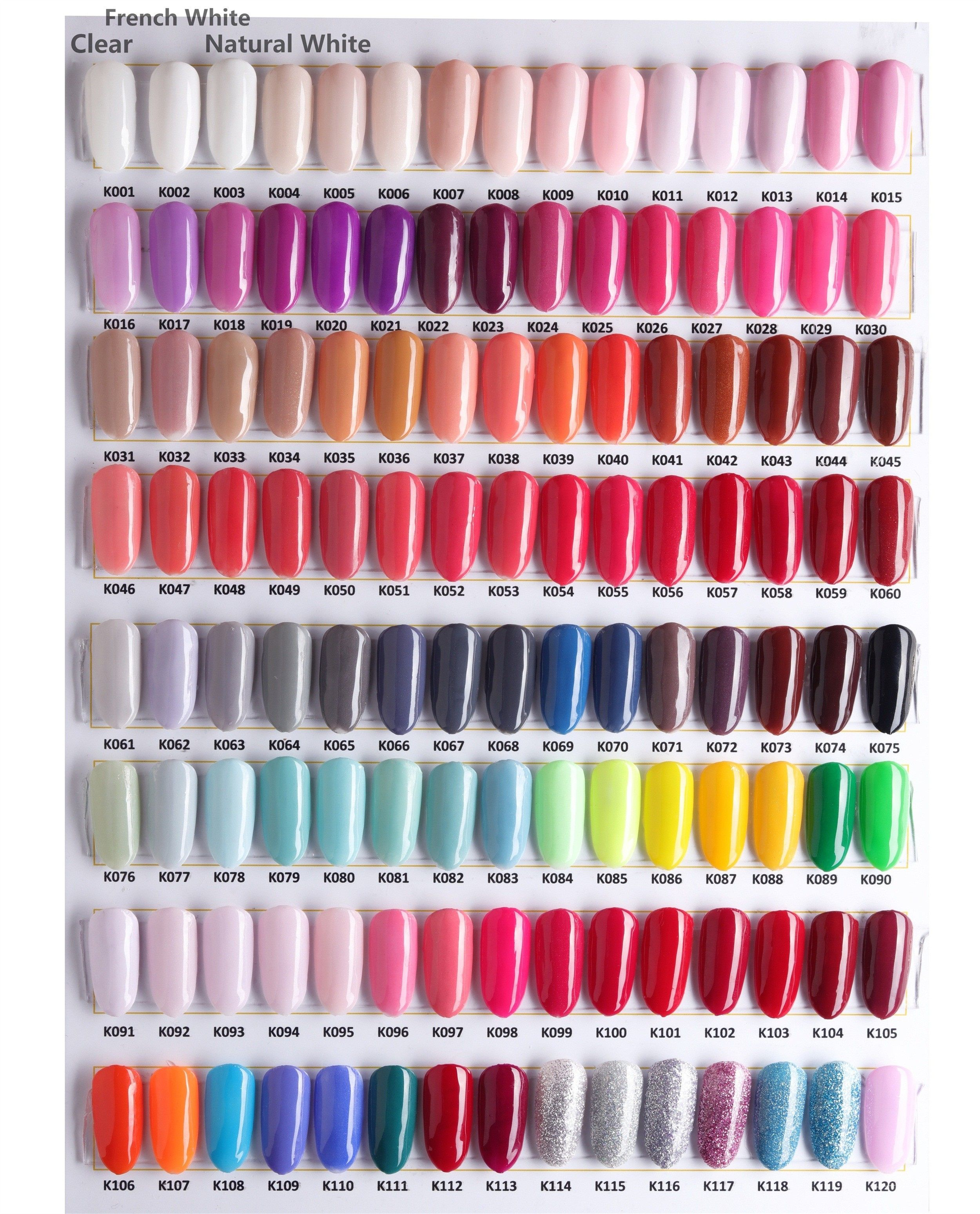 23 lovely acrylic nails natural colour chart 23 lovely