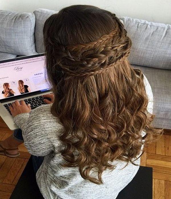 Boho Half Updo Hairstyle 2016