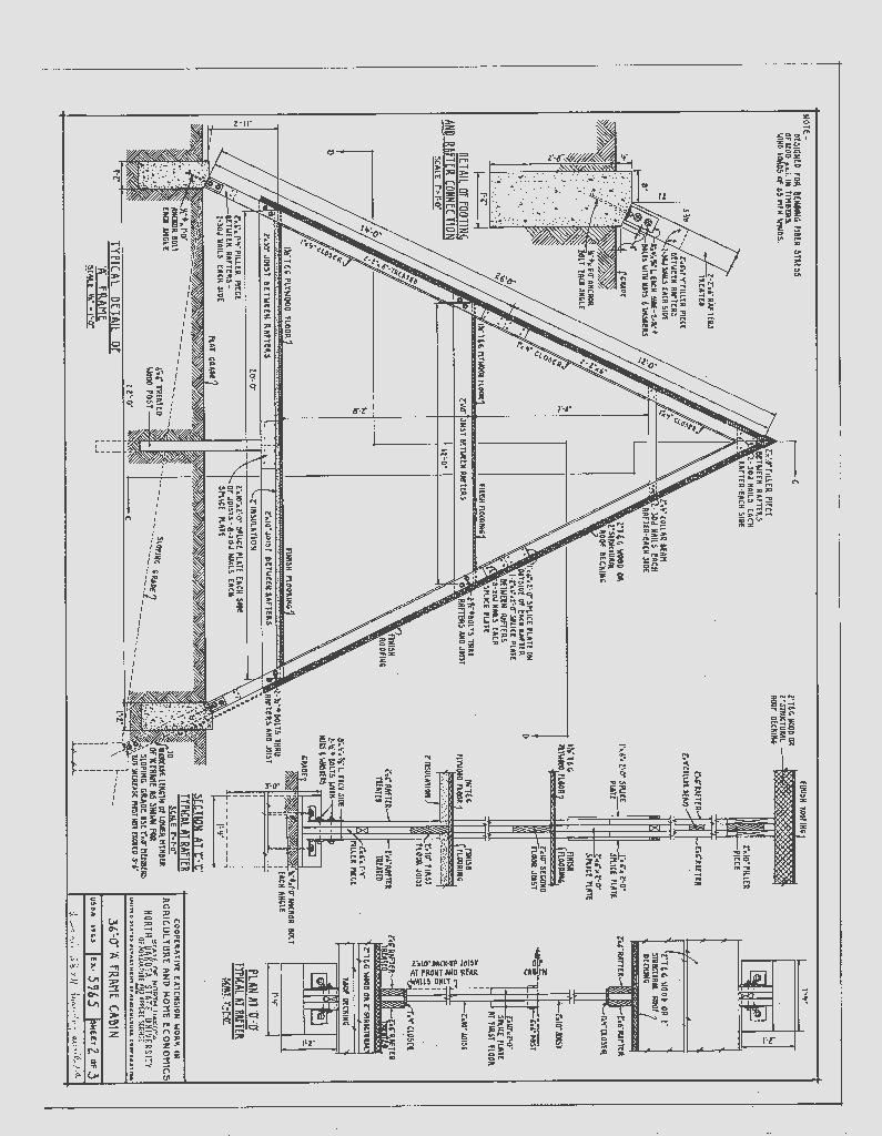 36 A Frame House Plans Page 2 A Frame House Plans A Frame Cabin Plans A Frame House