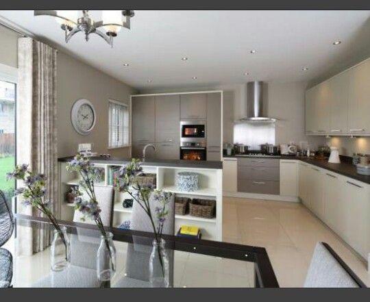 interior designed kutcheb duning room in silver greens, pale mink, Wohnideen design