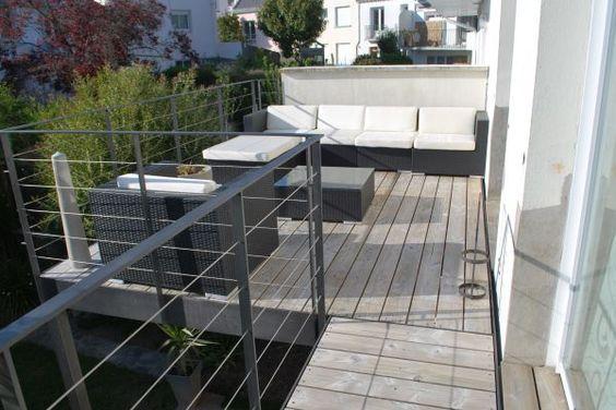 Terrasse sur pilotis + passerelle Garde corps Pinterest - Terrasse Suspendue Bois Prix